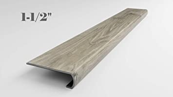 Sterling Oak Vinyl Flooring Stair Tread Nosing 1 5 Inch 4 42   Particle Board Stair Treads   Uncarpeted   Mdf   Refinish   Rough Cut   Recycled