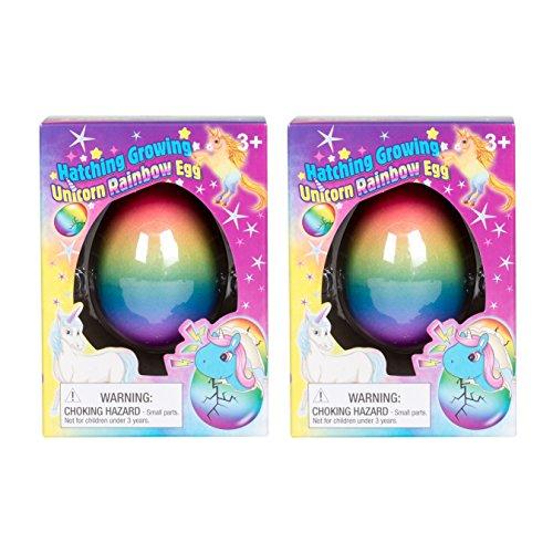 Set of 2 Surprise Hatching Growing Unicorn Rainbow Eggs - LOW PRICE!