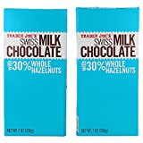 Trader Joe's Swiss Milk Chocolate Bar with 30% Whole Hazelnuts - 2 PACK