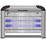 PestZilla Robust UV Electronic Bug Zapper - 20 Watts, Large-Area Prot, White