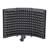 AW Studio Microphone Isolation Shield Acoustic Foam Panel Soundproof Filter Recording Panel Stand Mount