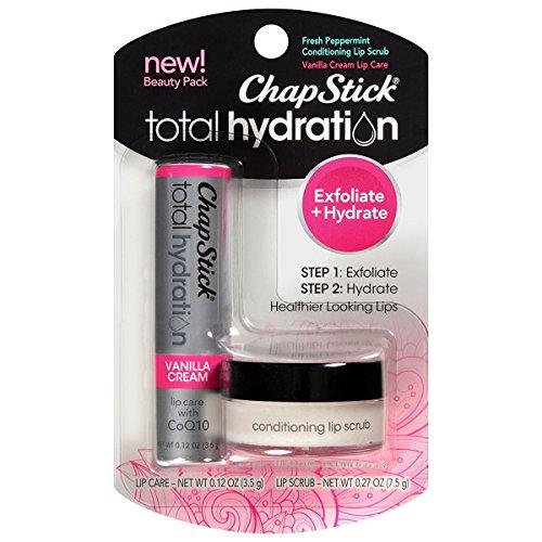 Chapstick Total Hydration Conditioning Lip Scrub, Vanilla Creme, 0.300 Oz