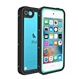 iPod Touch 5 Touch 6 Touch 7 Waterproof Case, Besinpo Sweatproof Snowproof Dustproof Built-in Touch Screen for iPod Touch 5th & 6th & 7th Generation - Blue