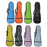 ZEALUX Colourful Adjustable Shoulder Strap 5MM Sponge Fill Ukulele Case Bag & Uke Case (21 in, Pink)