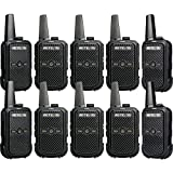 Retevis RT15 Two-Way Radio Rechargeable UHF 16 Channel VOX Voice Encryption Restaurant Mini Walkie Talkies with Charger 2 Way Radio Small (10 Pack)