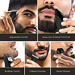 Remington PG6025 All-in-1 Lithium Powered Grooming Kit, Beard Trimmer (8 Pieces)  Image 5
