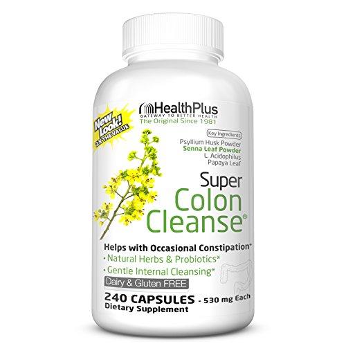 Health Plus Super Colon Cleanse: 10-Day Cleanse -Detox    6 Cleanses, 240 Capsules