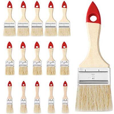 15x-Malerpinsel-Set-3-verschiedene-Gren-Holz-Flachpinsel-Lasurpinsel-Farbpinsel-Lackpinsel-Pinselsatz-Streichen