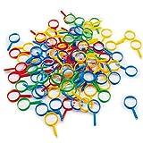 Johouse Mini Magnifying Glasses, 100PCS 2' Colorful Magnifying Glasses Explorer Plastic Pocket Children Detective Crafts Party Favors Kids Toys