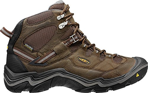 KEEN Men's Durand Waterproof Mid Wide Hiking Boot, Cascade Brown/Gargoyle, 13 W US