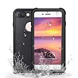 Redpepper iPhone 7/iPhone 8 Waterproof Case [4.7 inch], IP68 Certified Full Sealed Underwater Protective Cover, Shockproof, Snowproof and Dirtproof for Outdoor Sports (Black)