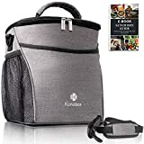 Konobox Insulated Big Lunch Bag - Leakproof Tote For Women and For Men - Includes a E-book - Grey Lonchera (Gray)