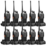 Retevis H-777 Two Way Radios UHF Radio 2 Way Radios Fast and Safe USB Rechargeable 16CH Radio Walkie Talkies (10 Pack)