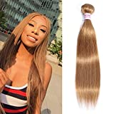 Top Hair Peruvian Virgin Straight Human Hair Weave one Bundle Peruvian Silky Straight Hair Weft Pure Color(27# 20Inch)