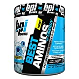BPI Sports Best Aminos with Energy Peptide Linked BCAAs and Glutamine, ICY Blue Raz, 10.58 Ounce