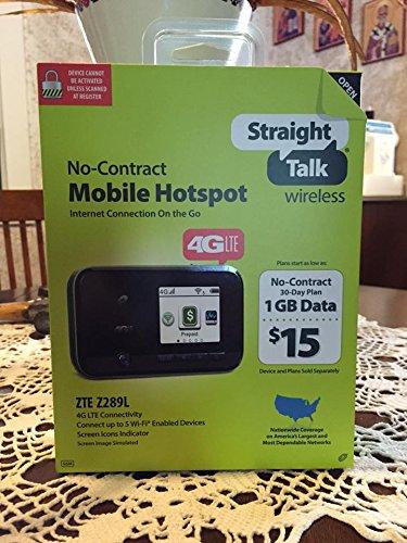 Straight Talk 4G LTE Mobile Hotspot + Bonus 1 GB DATA CARD (ZTE Z289L)