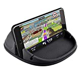 Phone Holder for Car, Car Phone Mount Silicone Phone Car Dashboard Car Pad Mat Various Dashboards, Anti-Slip Desk Phone Holder Compatible with iPhone, Samsung, Android Smartphones, GPS, sbM1