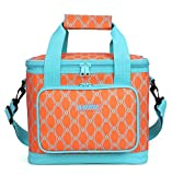 MIER 16 Can Large Insulated Lunch Bag for Women, Soft Leakproof Liner, Orange