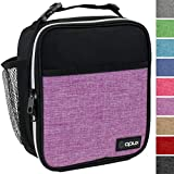 OPUX Premium Thermal Insulated Mini Lunch Bag   School Lunch Box For Teens, Adult Women   Soft Leakproof Liner   Compact Lunch Pail for Office Work (Heather Purple)