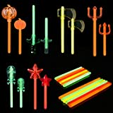 12PCs Glow Sticks for Halloween Party Favors, Halloween Decorations and Glow in The Dark Party Supplies