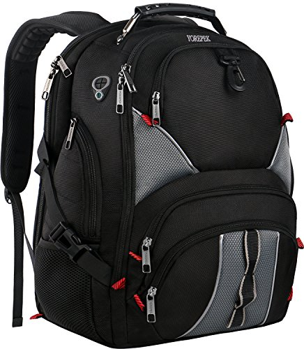 YOREPEK 17 Inch Laptop Backpack,Extra Large Travel Backpacks for International Travel,TSA Friendly Computer Backpack with USB Port for Men & Women,Water Resistant College School Bag w/Luggage Sleeve