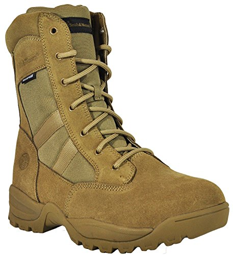 Smith & Wesson Footwear Men's Breach 2.0 Tactical Size Zip Boots, Coyote, 8