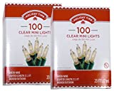 Holiday Time 100 Clear Mini Lights - Green Wire - Indoor/Outdoor (2 Pack)