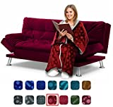 Cōzee Deluxe Wearable Blanket for Adults – Elegant, Cozy, Extra Soft Plush Throw Blanket – Ideal for Elderly & Handicap Clothing, Wheelchairs, or Watching TV (Ruby-Flowers)