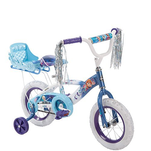 NEW 12 Inch Huffy Girls' Frozen Bike with Sleigh, Blue