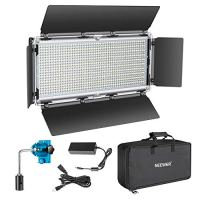 Neewer 960 LED Video Light Photography LED Lighting Dimmable 3200-5600K, Metal Frame with Barndoor, DC Adapter/Battery…