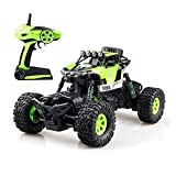 Gizmovine RC Rock Crawler Car 4WD 4 Modes Steering Waterproof 2.4Ghz Radio Control Toy Monster Truck Off Road (1/16 Scale) Green ZC0005-U2