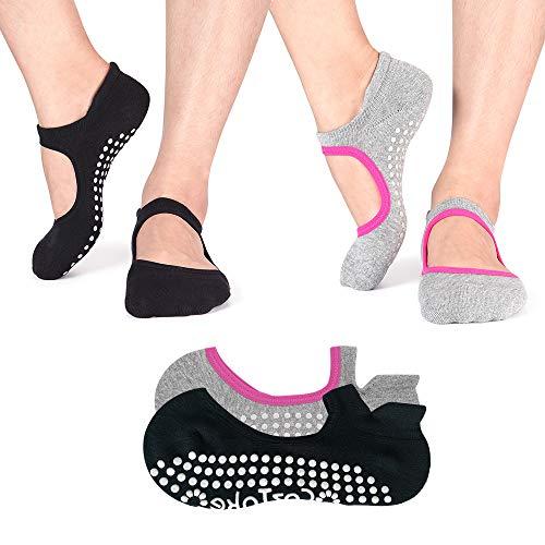 Non Slip Socks Cotton Yoga Socks Pilates...