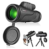 Monocular Telescope, Monocular Scope with BAK4 Prism, Rotating Eye Mask, Multi-Green Coated Lens for Bird Watching, Hunting, Camping, Phone Adapter and Compact Tripod Include - MCL01