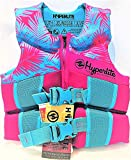 Hyperlite Wake Co Life Vest - Youth 55-88 lbs.USCG/TC Approved - Pink/Turquoise