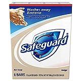 Safeguard Antibacterial Hand Bar Soap, 4 oz bars, 8 ea ( Pack of 2)