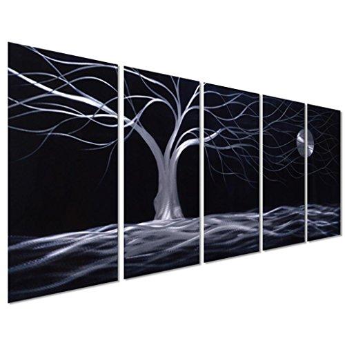 White Tin Wall Decor : Enlightening beautiful and enchanting moon wall art
