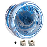 Yomega Raider - Professional Responsive Ball Bearing Yoyo, Designed for Advanced String Trick and Looping Play. + Extra 2 Strings & 3 Month Warranty Teal (Blue)