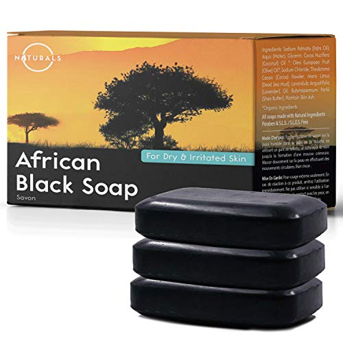O Naturals 3-Piece Detoxifying Charcoal & Peppermint Soap. 100% Natural. Face, Hands & Body Wash. Pore Refining, Helps w/Acne, Blackheads, Blemishes & Oily Skin. Made in USA. Triple Milled Vegan 4 oz
