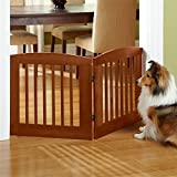 Orvis Panel Zig-zag Dog Gates / 24' h Two-Panel Gate: Covers Up to A 3' Span, Weighs 9 1/2 Lbs, Cinnamon