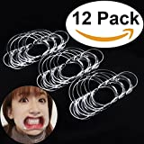 Aestheticism Dental Intraoral Cheek Lip Retractor (Kid Size) Mouth Opener for Fun Speaking Game 'Watch Ya Mouth' & 'Speak Out', Mouth Guard Challenge   C-Shape 12 Pack (NEW 2017 MODEL)