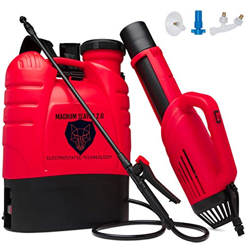 Magnum-Slayer-20-Professional-Cordless-Backpack-True-Electrostatic-Sprayer-Fogger-Mister-Atomizer-for-Disinfecting-Sanitizing-Decontamination-Pest-Control-Gardening-AirGun-and-Spray-Wand-Incl