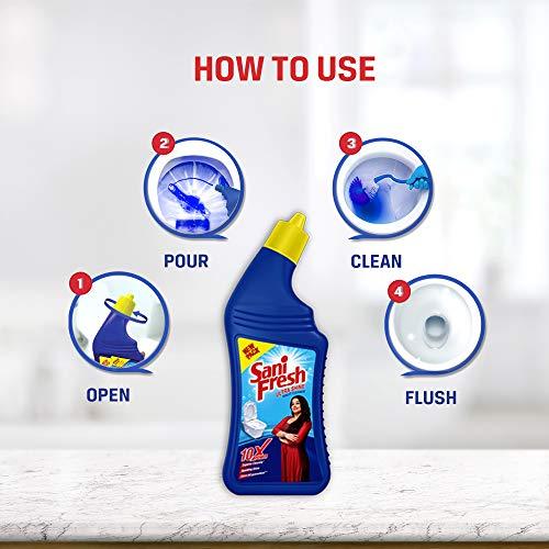 51aKnvZTvoL - Sanifresh Ultrashine Toilet Cleaner - 1.5X Extra Strong Extra Clean, 500ml (Buy 2 get 1 free)