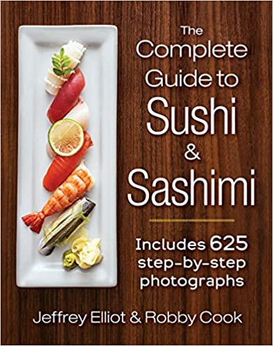 The Complete guide to Sushi and Sashimi, one of the cookbooks we use at Glover Gardens