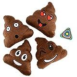 Emoji Poop Pillow 5' Plush Assorted 12 Pack