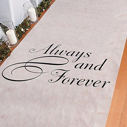 Always & Forever 100' X 3' Wedding Aisle Runner