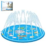 Luchild Splash Pad 68'' Summer Outdoor Water Play Mat Sprinkler Spray Pad Inflatable Water Fun Toys for Kids Children Infants Toddlers