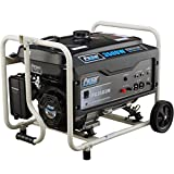 Pulsar 3,500W Portable Gas-Powered Generator with Mobility Kit PG3500M, 3500 Watts