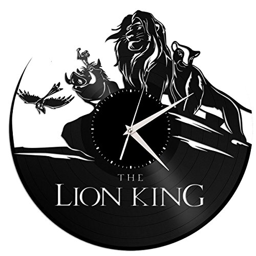 Lion King Vinyl Wall Clock Unique Gift