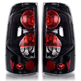 Tail Lights, Tail Lamps for Chevy Chevrolet Silverado 1500 2500 3500 1999-2006 & 2007 with Classic Body Style, GMC Sierra 1500 2500 3500 1999-2002 (Does Not Fit Barn Door/Sidestep Models) ATTL2001