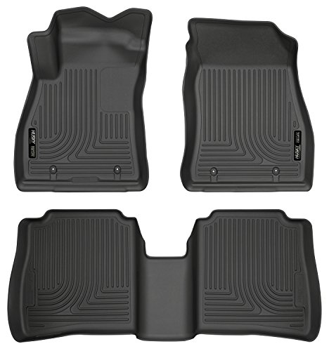Husky Liners 95621 Black 2nd Seat Floor Liners Fits 14-19 Sentra (with dual carpet hooks on front passenger side)